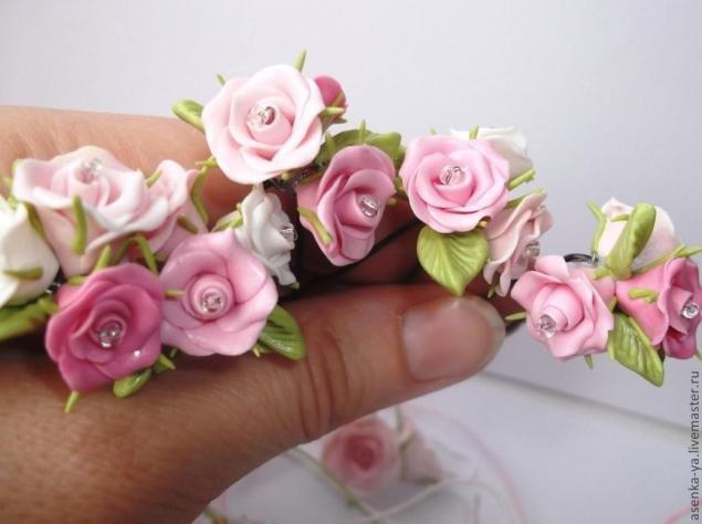 Роза из глины своими руками фото 142