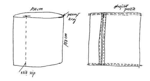 Кресло мешок схема