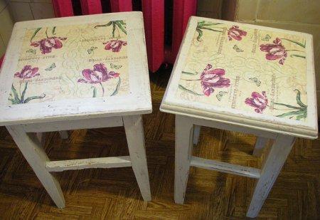Декупаж мебели салфетками