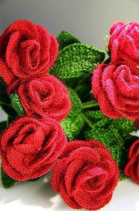 Вязание цветов крючком со