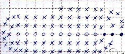 Схема сумки из атласных лент крючком