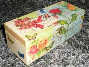 Обувная коробка в технике декупаж