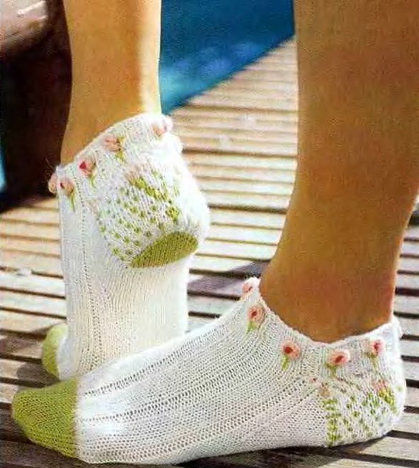 Из чего связать красивые носки