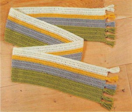 Cхемы вязания шарфа крючком для начинающих с описанием остров