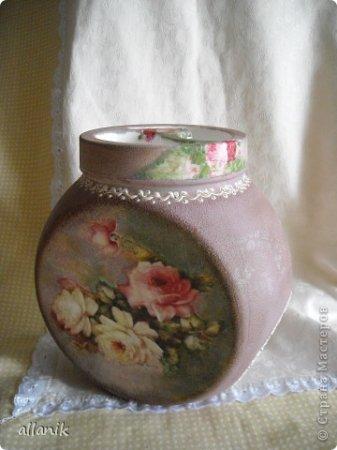 Как сделать вазу из стеклянной банки своими