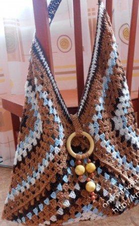 Красивая модная сумочка ручной работы