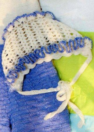 Схемы вязания ажурный чепчик крючком для новорожденной девочки.