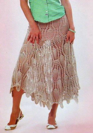 Серая юбка с узором Ананасы
