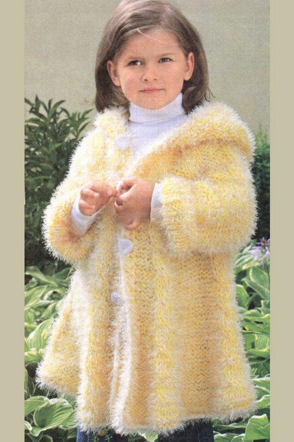 Узоры для пальто крючком для девочек