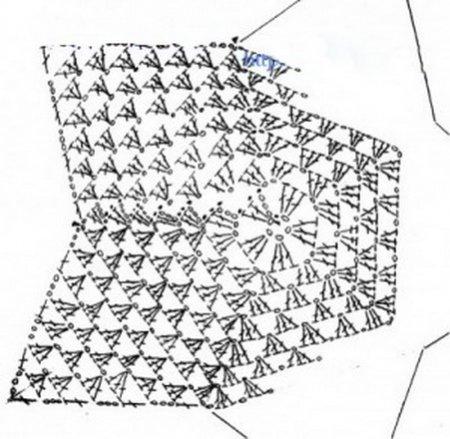 Схема вязания Звездочки