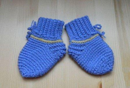 Синие детские пинеточки