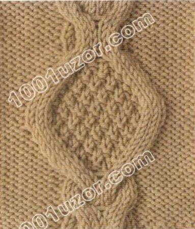 Крупные косы узор для вязания спицами