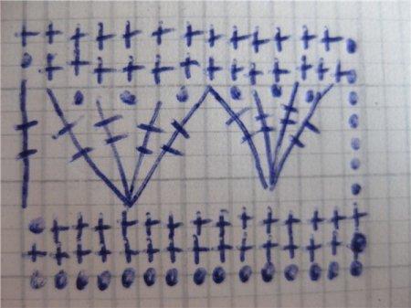 Схема вязания пляжной туники