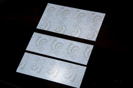 Лист скрапбумаги делим на три прямоугольника