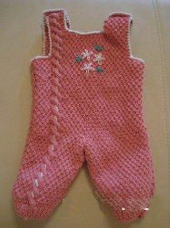 Костюм спицами со схемами и описанием для новорожденного малыша