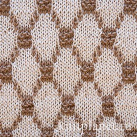 Жаккардовый узор вязания спицами