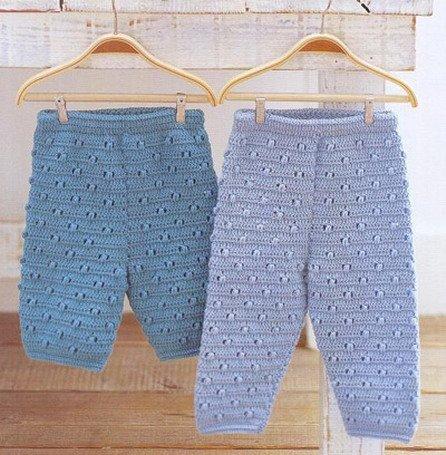 Вязание штанишки новорожденному