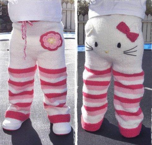 Вяжем детские штанишки