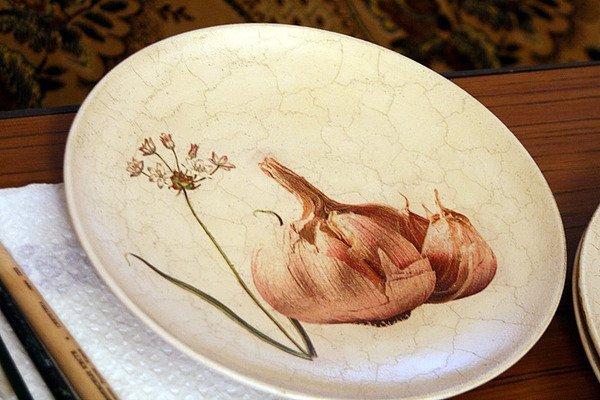 Декупаж как сделать тарелку