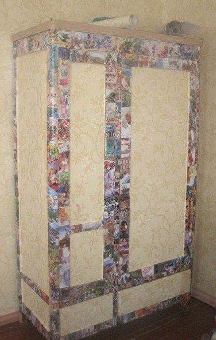 Как задекорировать старый шкаф своими руками фото
