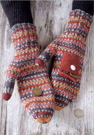 Разноцветные рукавички