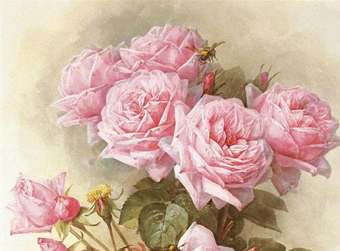 декупажа для картинки розы красные