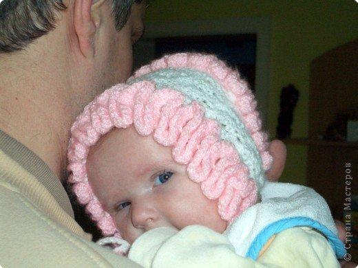 Шапочки и чепчики вязанные для новорожденных своими руками