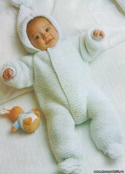 Вязаные детские костюмчики для