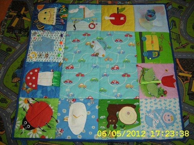 Сшить детский развивающий коврик