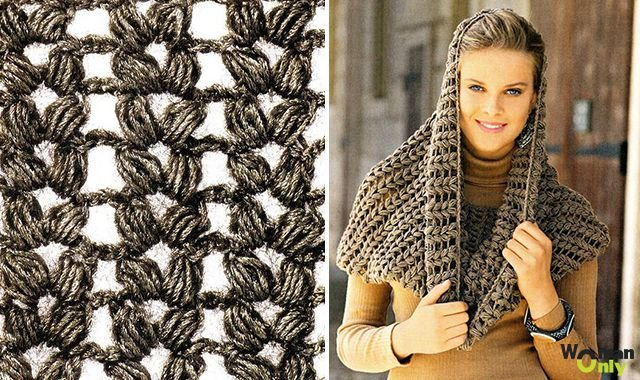 шарф крючком сколько нужно пряжи