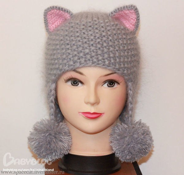 Вяжем шапку для девочки спицами