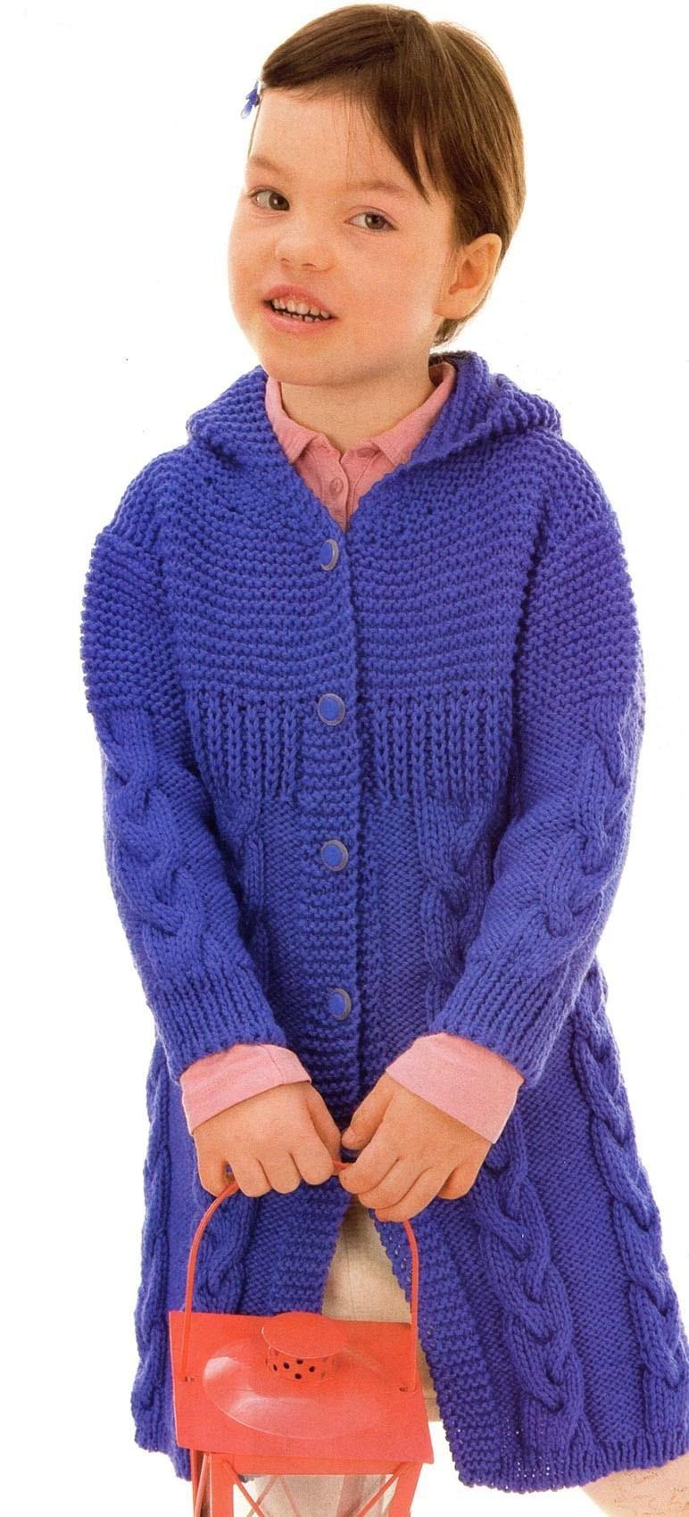 Пальто вязаное спицами со схемой фото