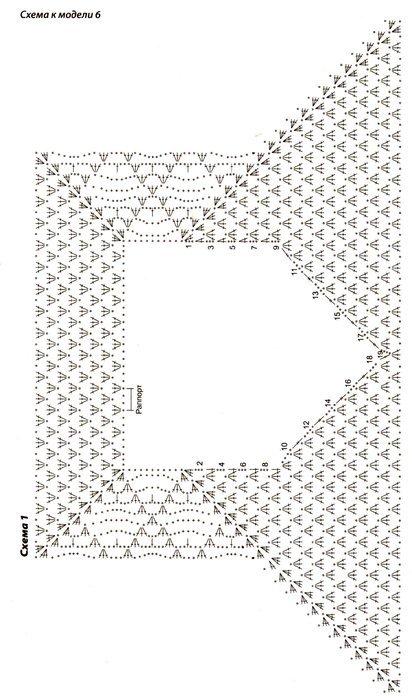 схему кофты реглан крючком