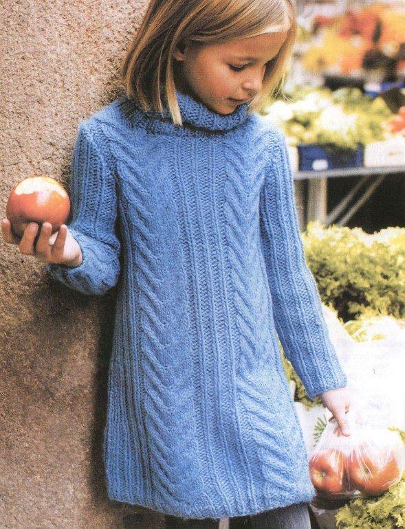 Платье для девочки крючком со схемами и описанием, фото и ...