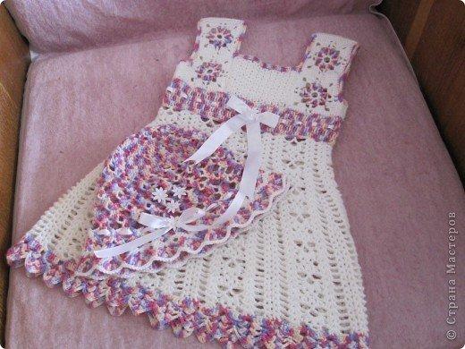 Платья крючком для девочек 1 года со схемами видео