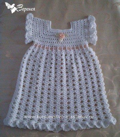 Платье крючком для девочки со
