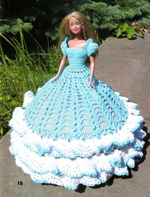 схема платья для куклы,