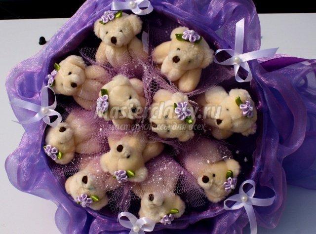 Цветы из органзы своими руками (букет, топиарий).Мастер 99
