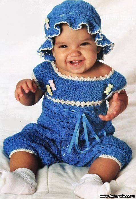 Вязание для новорожденных крючком со схемами и описанием