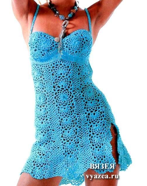 Ленточное кружево на платье с сеткой