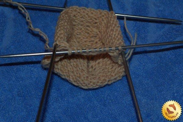 Вязание спицами следков берсенева
