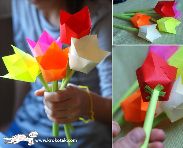 Подарок бабушке своими руками цветы из бумаги