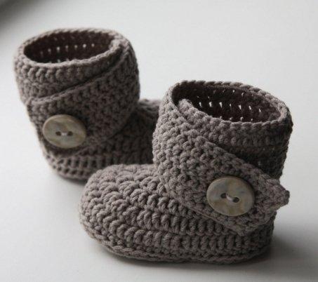 Пинетки-кеды вязание крючком фото