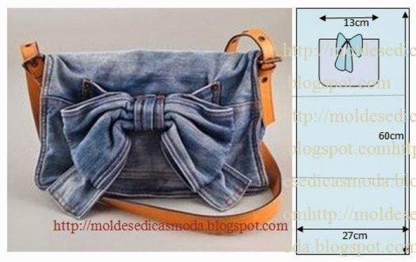 Выкройки сумок из джинс видео