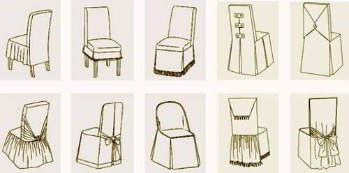 Выкройка чехлов на стулья своими руками