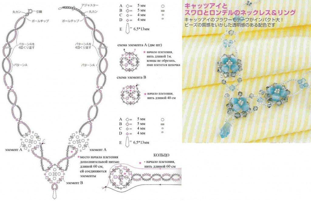 Браслеты из бисера крючком схемы и описание