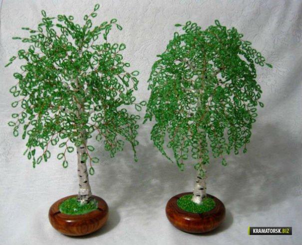 Дерево из бисера своими руками как делать