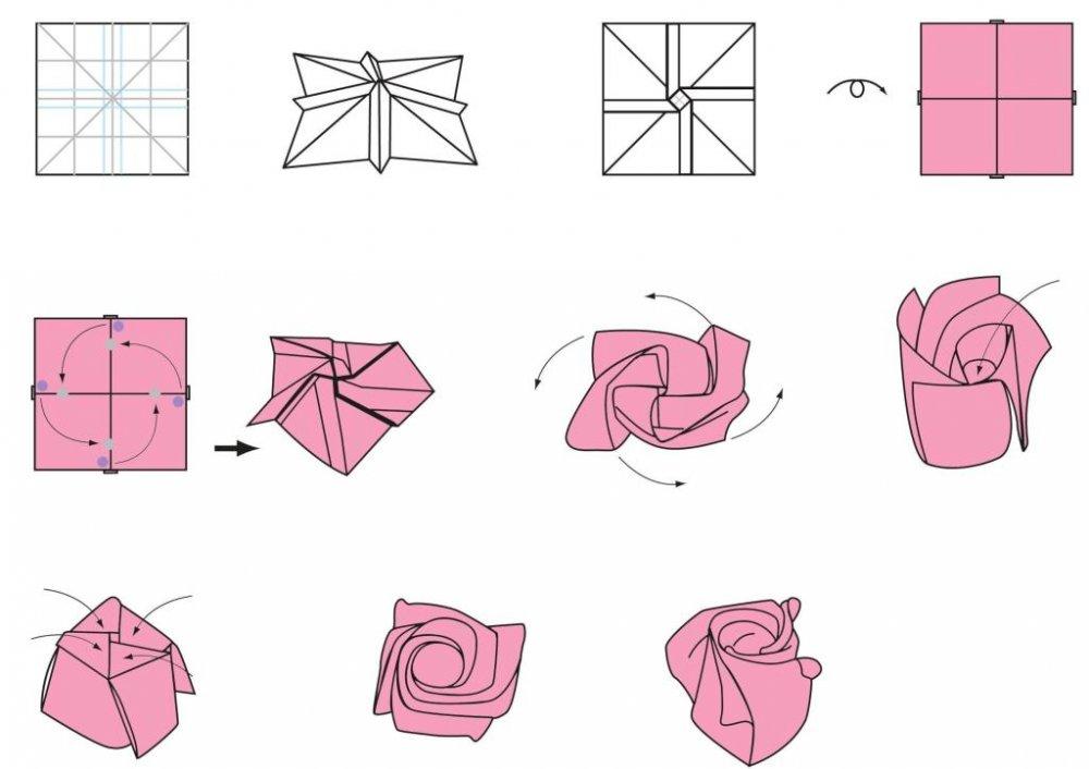Поделки из бумаги оригами со схемами фото 711