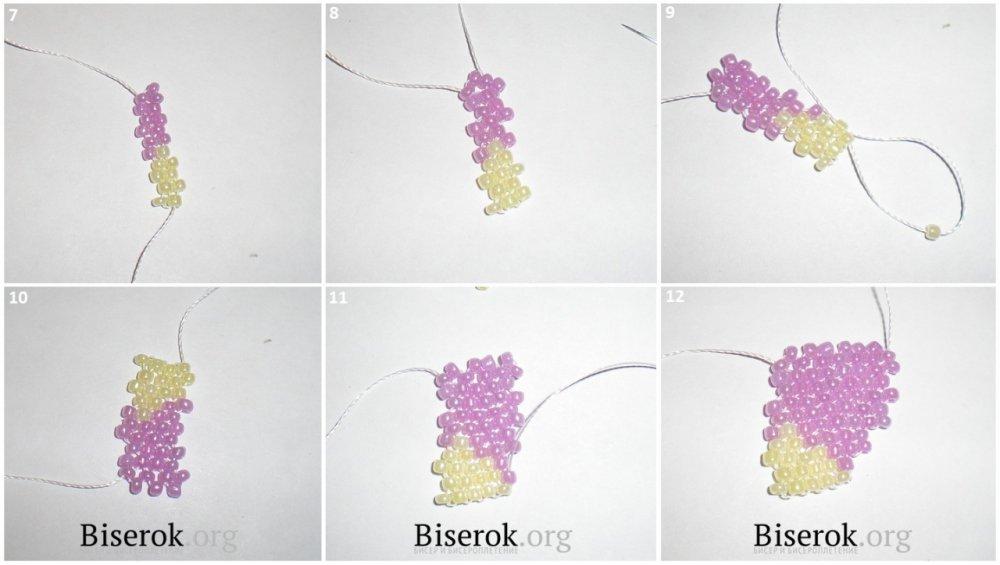 Схемы плетения маков из бисера