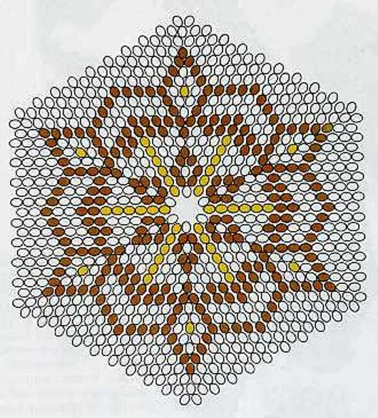 Салфетки из бисера схемы